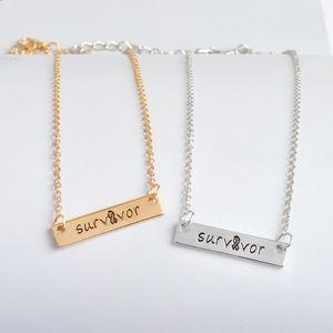 Jewelry - Gold Survivor Bar Pendant Necklace